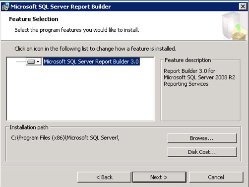 sccm report builder cannot download the application