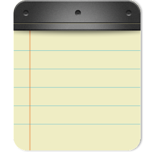 where is the notepad application saved