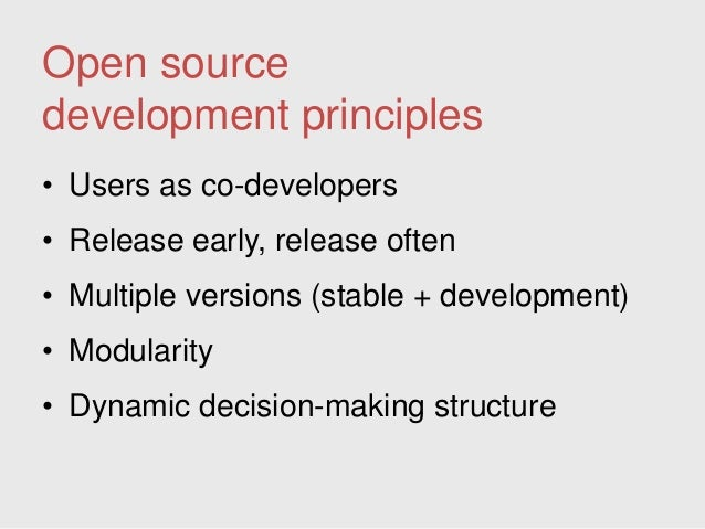 open source software to make web applications