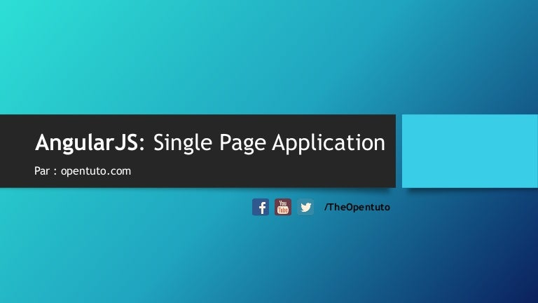 angularjs single page application meaning