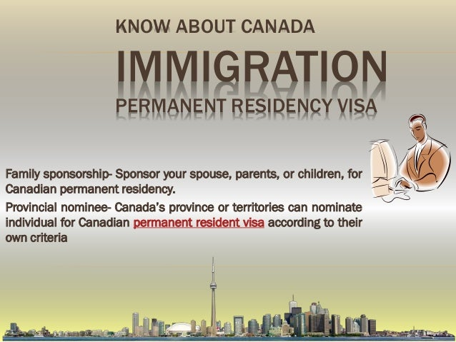 canada permanent residency self employed application fee